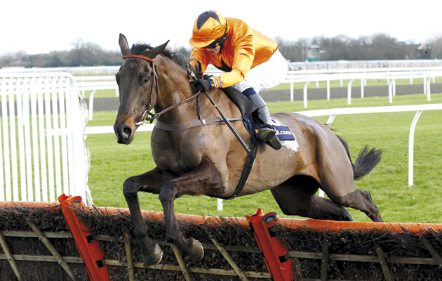 Tea For Two and Lizzie Kelly jump the last to win the William Hi